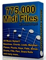 775,000 Midi Pack Collection 2021 Logic, FL Studio, Reason, Ableton Cubase Acid