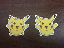 Pack Of 2 Pikachu Pokemon Flat Back Resin Cake Bow Decoration