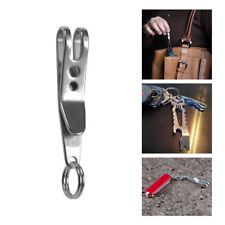 Mini EDC Gear Pocket Suspension Clip Hanger Tool w/ Key Ring Keychain Keyfob 1Pc