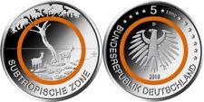 BRD 5 Euro 2018 - Subtropische Zone - kmpl. Rolle 25 Stück - Stempelglanz G