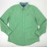 Tommy Hilfiger Button Down Shirt Mens XL Extensible Stretch Cotton Long Sleeve