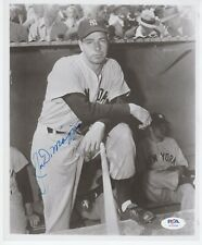 "Joe DiMaggio NY Yankees Signed Autograph 8"" x 10"" Black and White Photo PSA DNA"