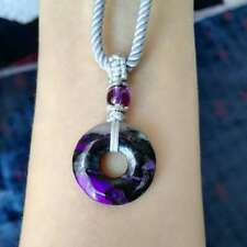 REAL sugilite donut harmony pendant necklace adjustable lucky gift girls gift