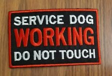 Service Dog Do Not Touch sew or Iron On Patch, working animal Vest Applique  sq