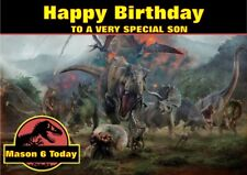 personalised birthday card jurassic world any name/age/relation.