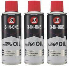 3 x 3-In-1 Multipurpose Oil Lubricates Cleans Prevents Rust Spray 200ml