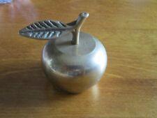 Vintage Brass Apple Paperweight