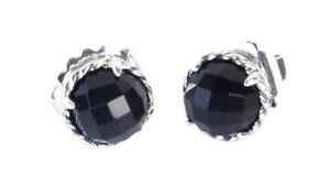 DAVID YURMAN Women's Chatelaine Earrings with Black Onyx 10mm NEW