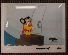 Mighty Mouse Original Production Cel OPC 1981 Viacom International Cartoon TV