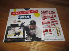 NESN CAM NEELY & MO VAUGHN TV's Hottest Hits 1994 Schedule Poster BRUINS RED SOX