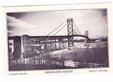 AMBASSADOR BRIDGE--DETROIT MICHIGAN---POSTCARD