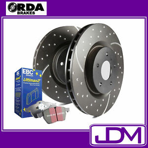 FORD FALCON FG XR6 TURBO, XR8- RDA SLOTTED Front Brake Discs & EBC ULTIMAX Pads