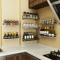Kitchen Door Wall Mount Storage Shelf Pantry Holder Cabinet Organizer Spice Rack