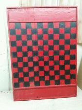Vintage Game Board Checkerboard  Folk Art primitive quebec canada