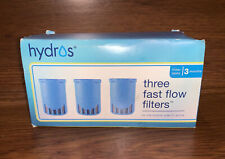(3) Hydros Filtering Water Bottle Filters, Fast Flo Tech, New