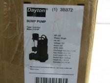 Dayton 3Bb72 3/4 Hp 1 Phase 60Hz 120V 3450 Rpm Sump Pump