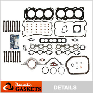 Fits 01-04 Infiniti QX4 Nissan Pathfinder 3.5L DOHC Full Gasket Set Bolts VQ35DE