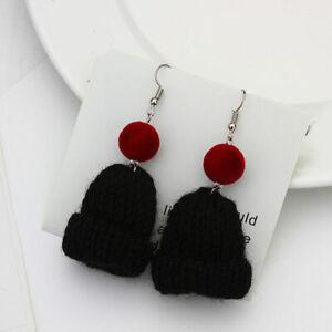 Christmas Hat Earrings Dangle Eardrops Fashion Wool Eardrop Fashion Ear Hooks