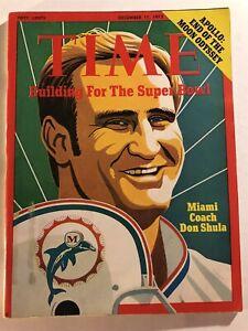 1972 TIME Magazine MIAMI DOLPHINS Don SHULA No Label Super Bowl LARRY CSONKA