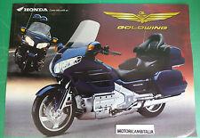 HONDA GOLDWIND 1800 MOTO MOTORCYCLE ADVERTISING PUBBLICITA BROCHURE DEPLIANT