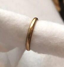 Vintage 14k Solid GOLD WEDDING Ring BAND 2mm SIZE 5