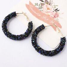 Noble Fashion Women Elegant Hook Earrings Crystal Ear Stud Dangle Hoops Jewelry