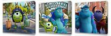 Monsters University set of Three Wall / Plaques canvas pictures