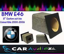 BMW E46 Convertible Custom Built Armrest Sub Bass Box Enclosure for Subwoofers.