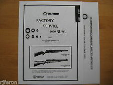 Crosman 140 147 1400 Seal Kit - Factory Service Manual - Instructions - Guide