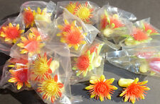 WHOLESALE 12 x Wonderful 1960s plastic SUNFLOWER clip on Earings