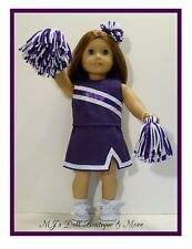 Purple & White Cheerleader Set fits American Girl Doll