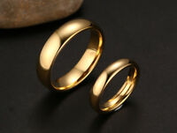 Tungsten Carbide Women and Men Wedding Engagement Ring Gold Plated Band Set M13