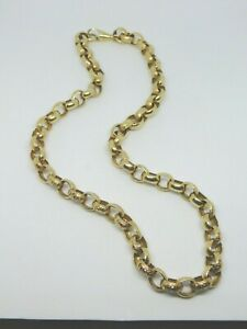 9ct Gold Large Round Link Fancy Chain