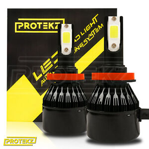 LED Headlight Kit Protekz 9008 H13 6K Bulbs High Low for 2013-2016 Nissan NV200