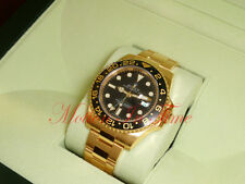 Rolex Gmt Master II 18kt Yellow Gold Ceramic Black Dial 40mm Oyster 116718
