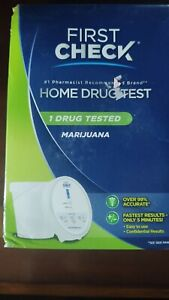 New Sealed First Check Home Drug Cup Test, Marijuana 1 Count 11/28/2020+