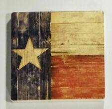 "New ""Barnwood Texas Flag"" 6 Piece Drink Coaster Set by Thirsty Stone"