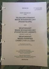 More details for british army l5a1 l6a1 l11a1 l12a1 infra red weapon sight night sight handbook
