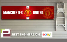 Manchester United logo Banner for Workshop, Garage, Office, Bedroom, Man Utd
