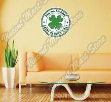 "St. Patrick Day Kiss Irish Grunge Stamp Wall Sticker Room Interior Decor 22""X22"""