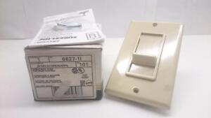 Leviton Single Pole Slide Fan speed control 6627-1I Ivory 5A-20VAC,   USA SELLER