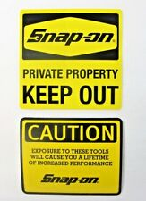NEW Genuine Official Snap On Tools 2 Piece Decal Sticker Set #11 - FREE S/H