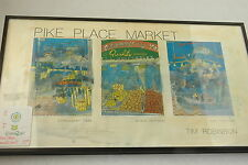 "10""x18"" Pike Place Market Framed Tim Robinson Signed Art Copy"