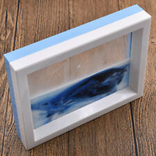 Vertical Type 3D Scenery Painting Moving Liquid Sand Glass Picture Photo Photo