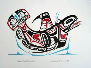 NORTHWEST COAST ART - Haida ORCA SPIRIT WARRIOR - ORIGINAL PAINTING