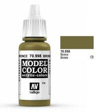 "Vallejo ""Model Color"" Bronze Acrylic Hobby Paint: 17ml Bottle - 70.998"