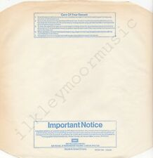 "Vintage INNER SLEEVE or SLEEVES 12"" EMI paper blu Important Notice PATENT R x 1"