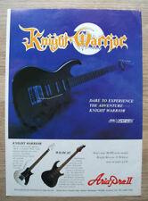 KNIGHT WARRIOR - ARIA PRO II - GUITAR - ORIGINAL magazine advert 12 X 8 IN