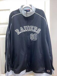 NWT Reebok Gridiron Classic Oakland Raiders Black Full Zip Jacket 2XL