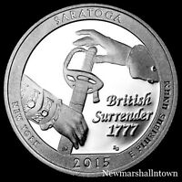 2015 S Saratoga NY Silver Mint Proof Quarter ATB National Park from Proof Set